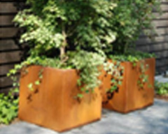 Cube - The Corten  Steel  Planter